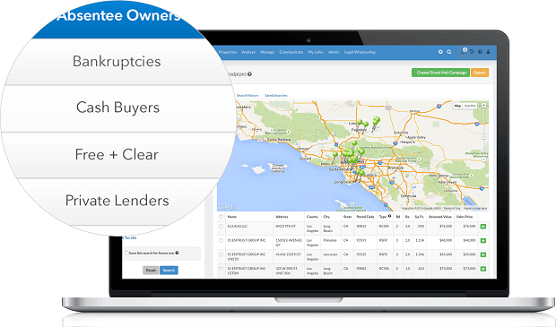 real estate investing software to find cash buyers