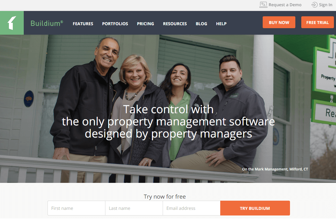 Start your free trial of Buildium rental property software high-tech cloud-based systems with mobile apps