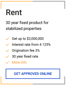 Get real estate loans to refinance or purchase new rental properties
