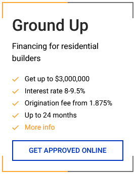 Loans for ground-up builds for real estate investors apply online today