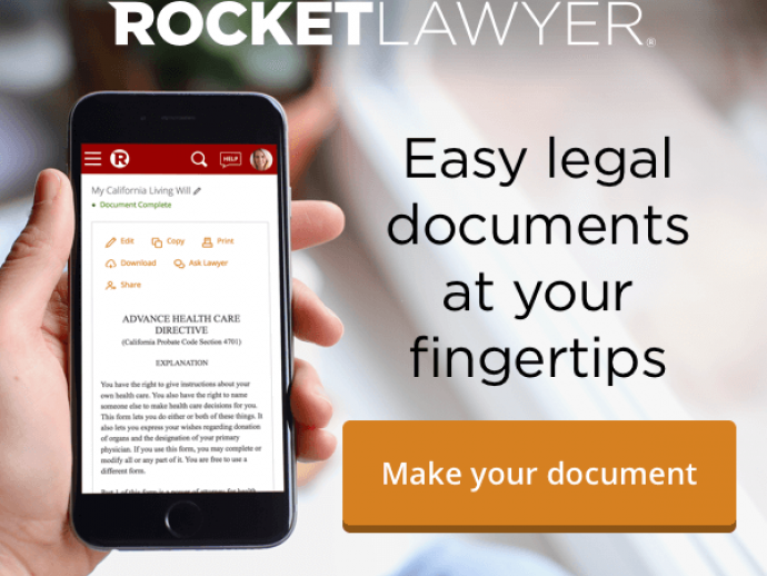 7 Day free trial of Rocket lawyer for real estate contracts and documents