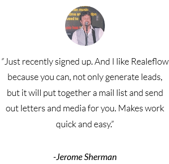 I like Realeflow because you can not only generate leads but it will also put together a mail list and send out letters for you review by Jerome Sherman