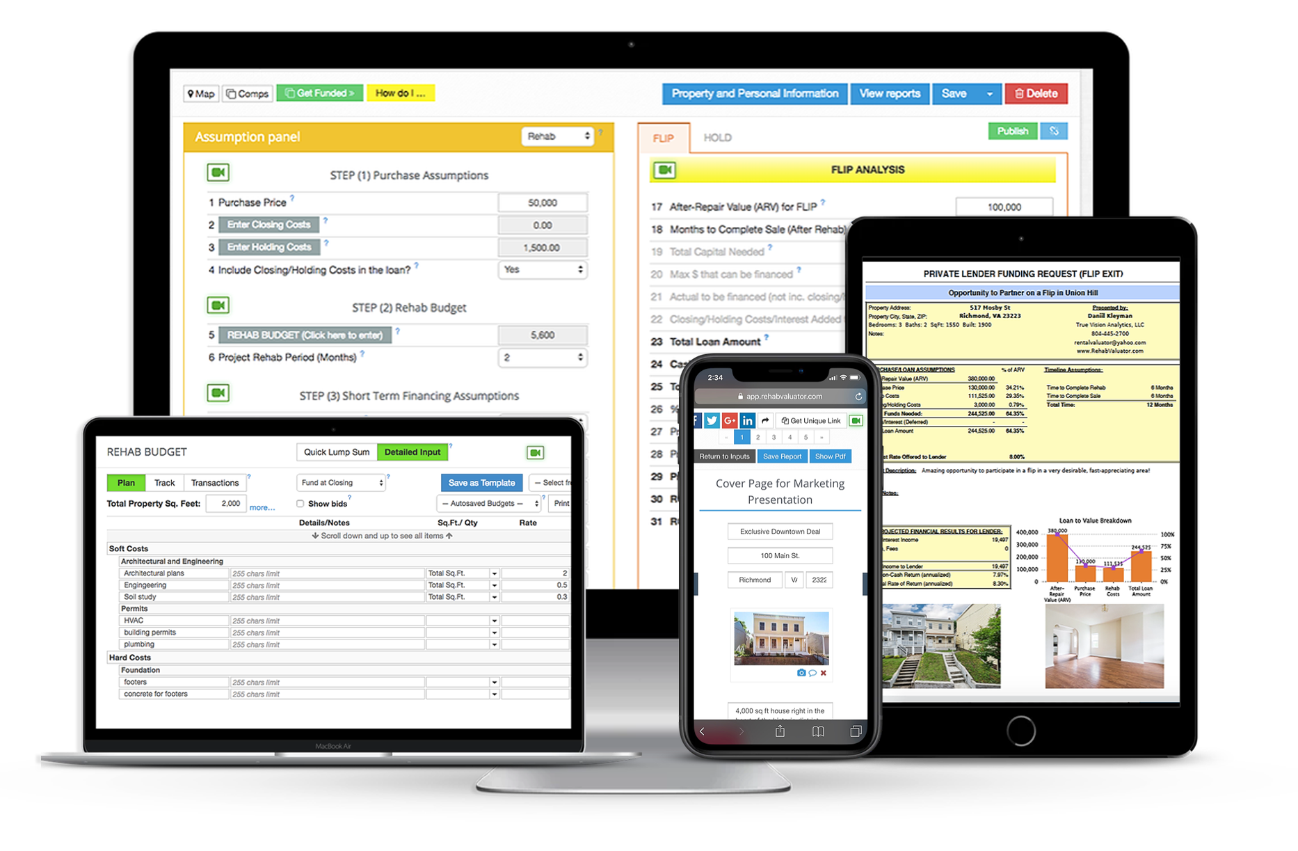 Rehabvaluator software to find comps
